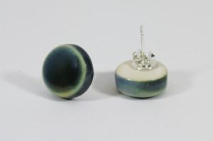 Ohrstecker Blaugrün